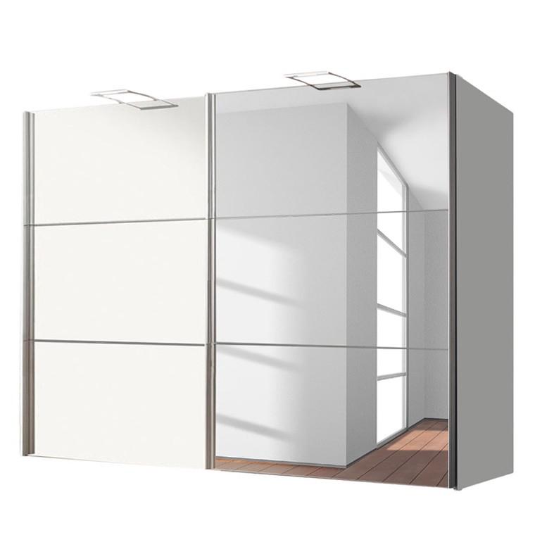 armoire portes coulissantes zuri blanc brillant 250 cm 2 portes express m bel prix et. Black Bedroom Furniture Sets. Home Design Ideas